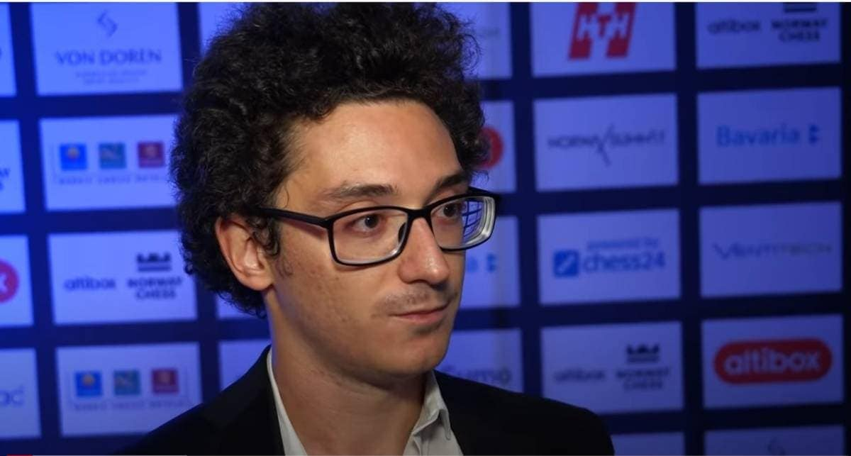 Fabiano Caruana after losing an Armageddon game to Firouja