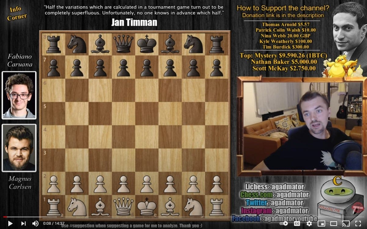 Check out the thrilling Caruana vs Carlsen match